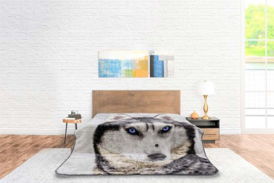 Blanket Animal Face Wolf