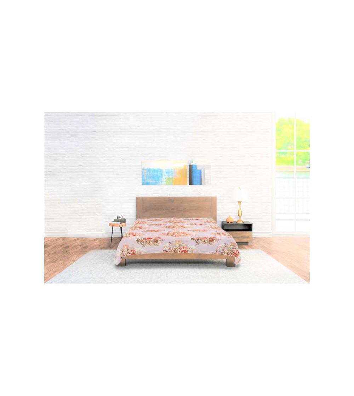 Bedspread Flannel Flowers Pink
