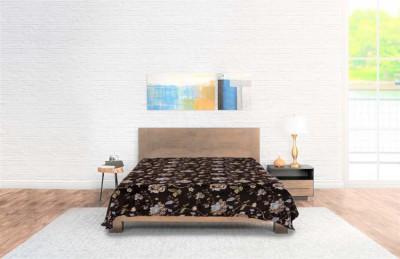 Bedsprei Flannel Flowers Brown