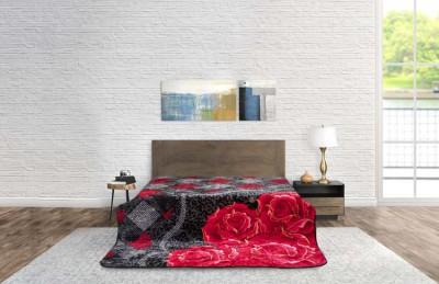 Blanket Modern Flower Dark