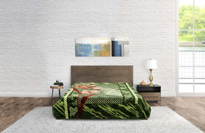Blanket Modern Flower Green