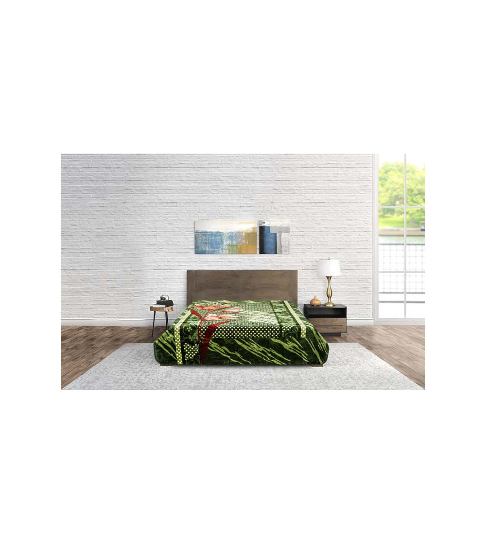 Blanket Modern Flower Green
